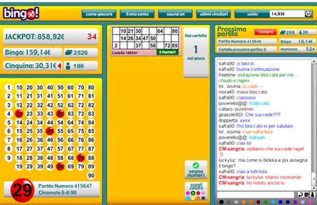 come si gioca a bingo 90