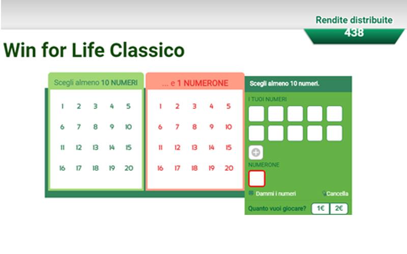win for life classico