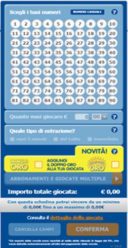 10 e lotto schedina