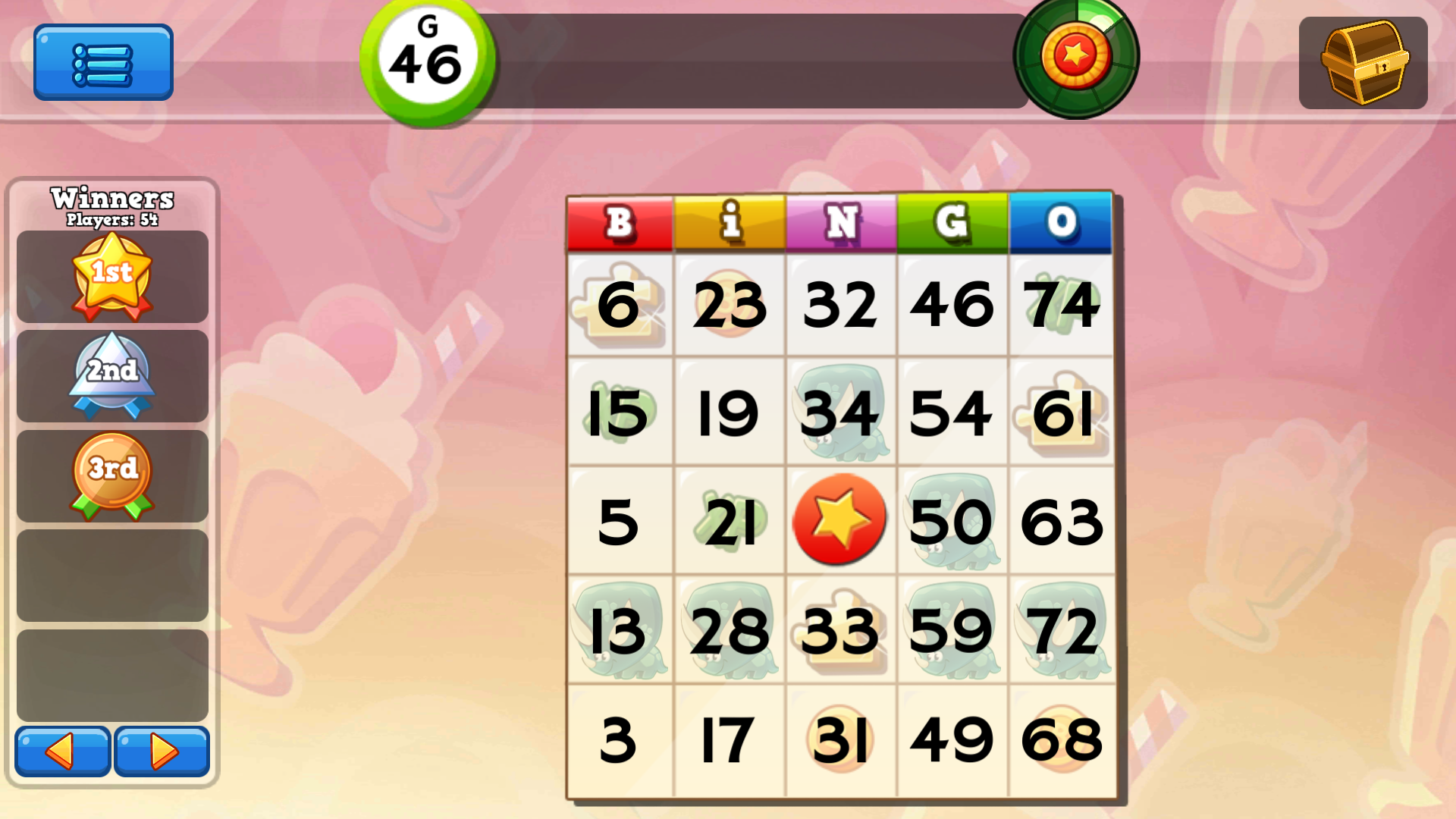 partita di bingo