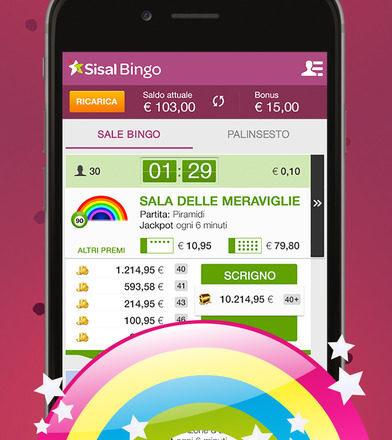 La nuova App Bingo di Sisal per smartphone Android e iPhone